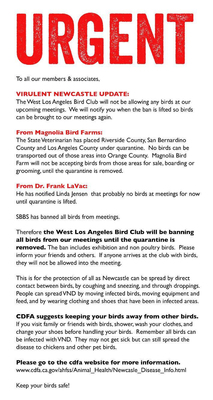 West Los Angeles Bird Club
